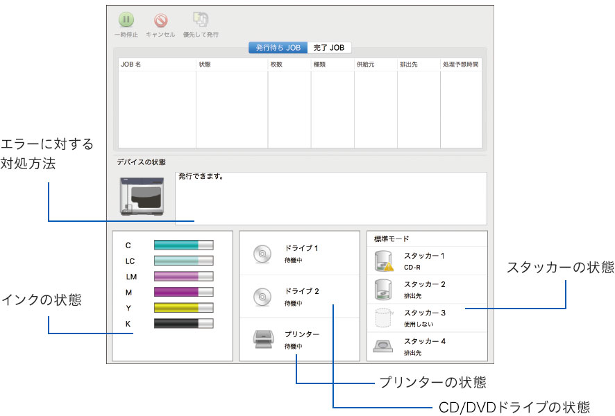EPSON Total Disc Utility(Mac)画面
