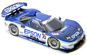 Papercraft racing car del coche EPSON NSX 2006. Manualidades a Raudales.