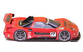 Papercraft recortable del Racing Car Real NSX 2007. Rolling Stone. Manualidades a Raudales.