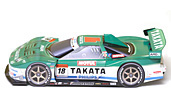 Papercraft recortable del Racing Car Takata NSX 2007. Manualidades a Raudales.