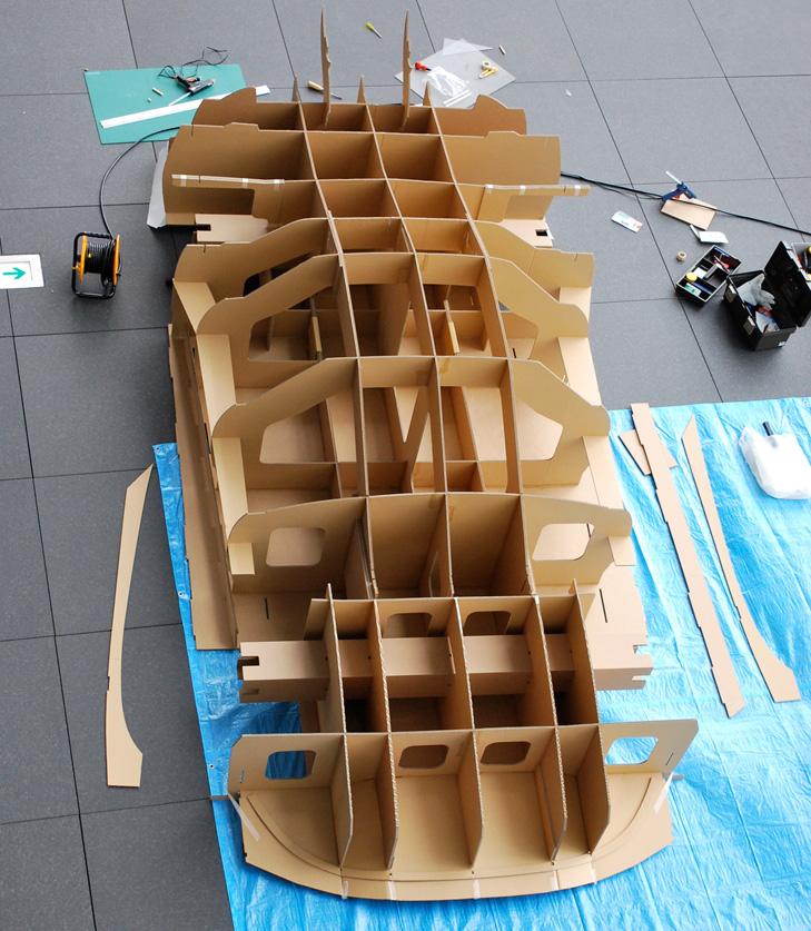 Как сделать модель своими руками из картона
